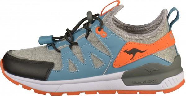 KangaROOS Sneaker Textil Grau/Blau