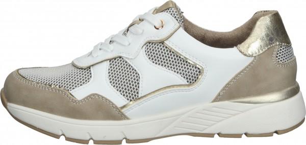 Relife Sneaker Lederimitat/Textil Beige/Gold