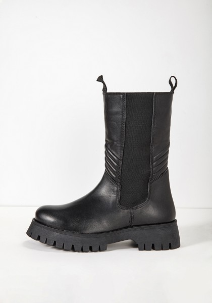 Inuovo Boots Leather/Textile black2