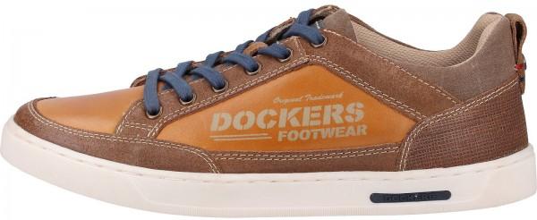 Dockers Sneaker Lederimitat Hellbraun