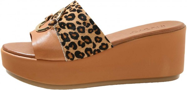 Inuovo Mules Leather Leopard