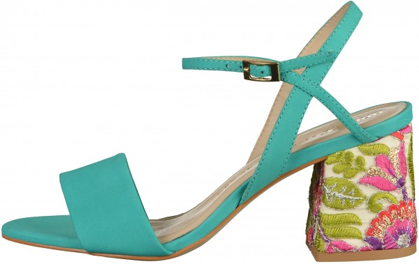 Bronx Sandals Nubuk leather turquoise2