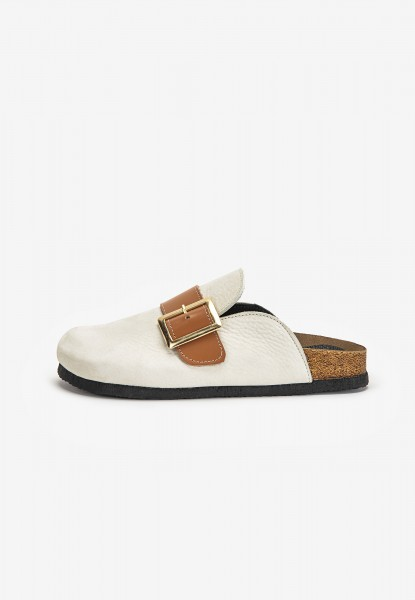 Inuovo Mules Leather Light Beige