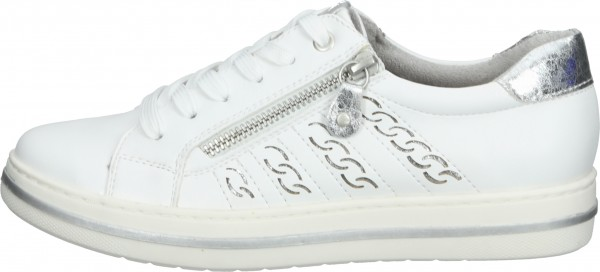 Relife Sneaker Lederimitat Weiß/Silber