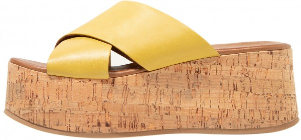 Inuovo Mules Leather Yellow