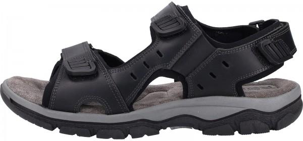 Rohde Sandals Nubuk leather black2