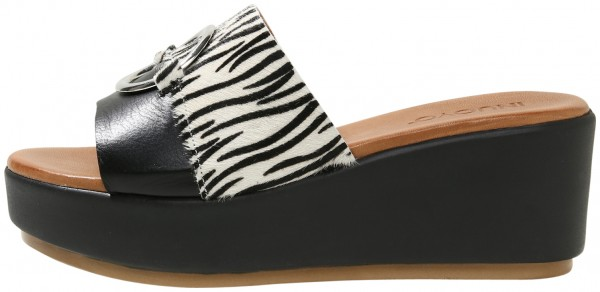 Inuovo Mules Leather Black/White