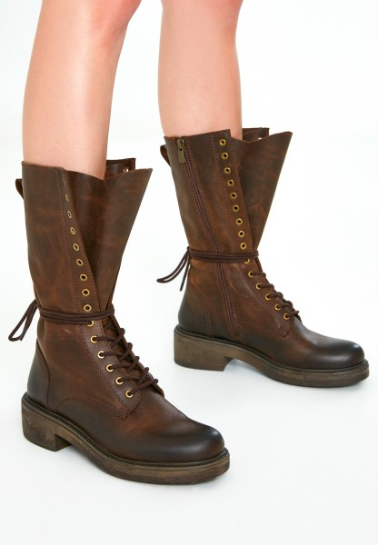 Inuovo Boots Leather Dark brown