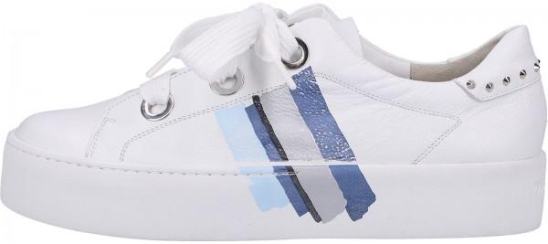 Paul Green Sneaker Glattleder Weiß/Blau