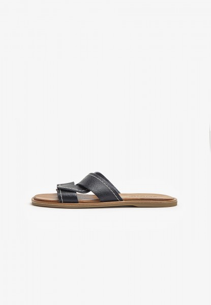 Inuovo Mules Leather Navy