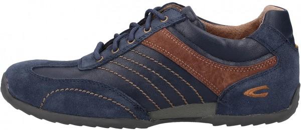 camel active Sneaker Leder/Textil Dunkelblau/Braun