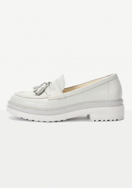 Inuovo Loafers Leather Silver/grey