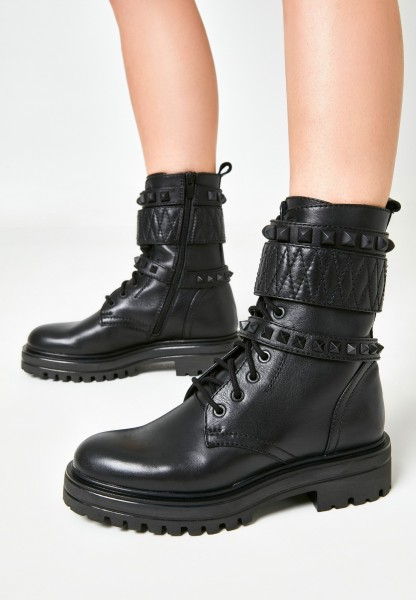 Inuovo Booties Leather black2