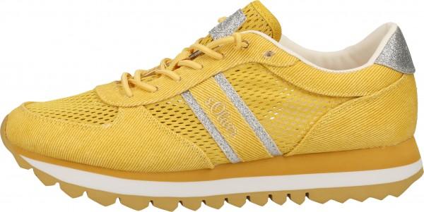s.Oliver Sneaker Textil Gelb