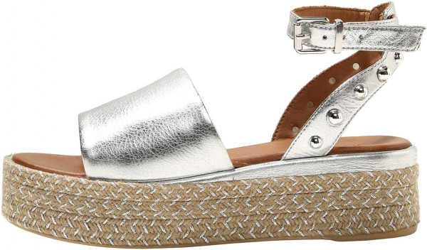 Inuovo Sandals Leather Silver/beige