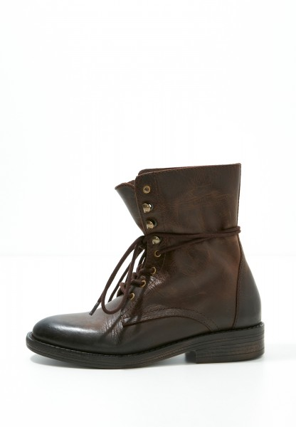 Inuovo Booties Leather Dark brown