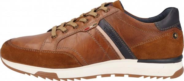 Tom Tailor Sneaker Leder Cognac