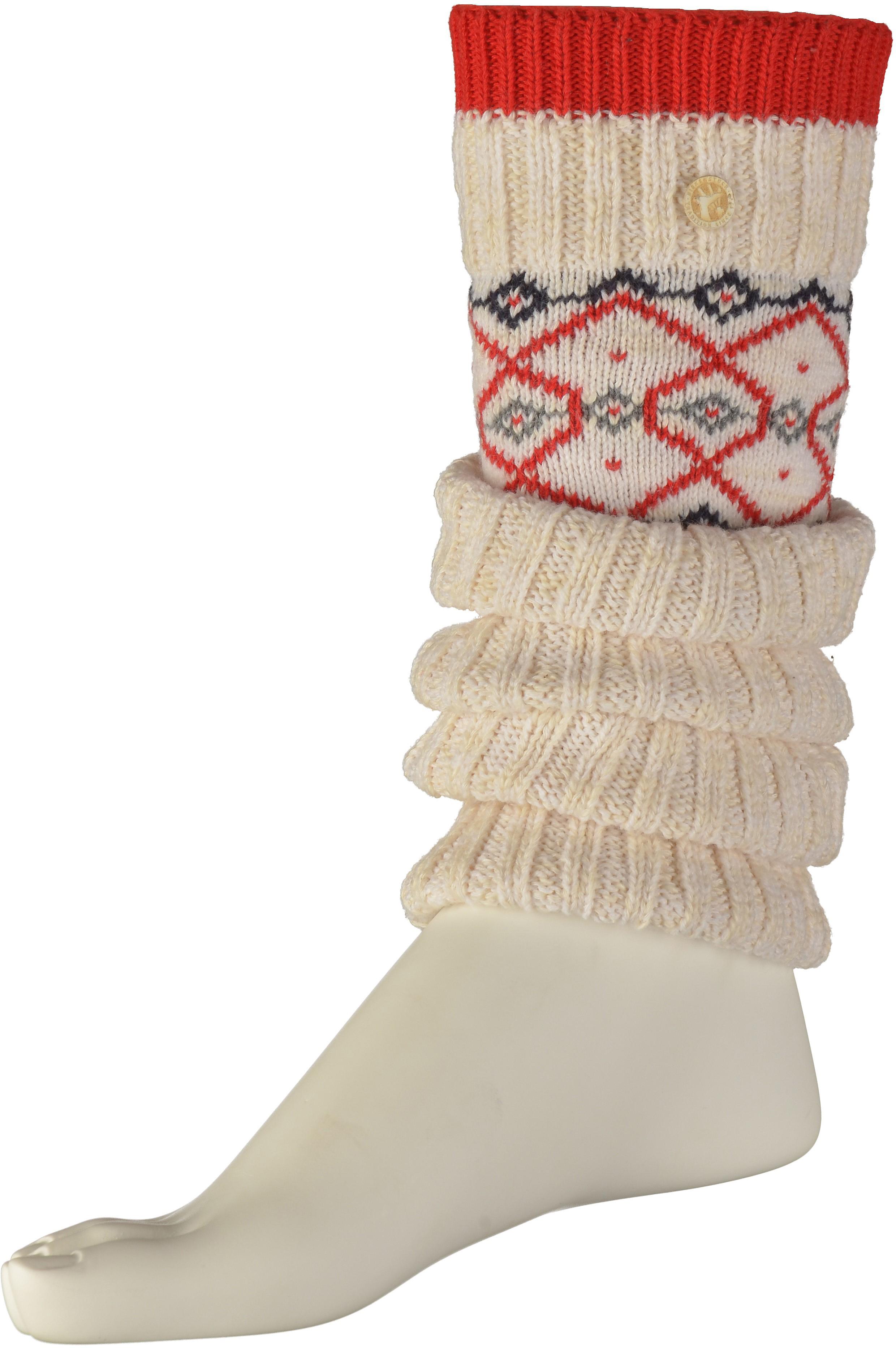 Birkenstock Inuit I Socken Baumwolle WeißRot