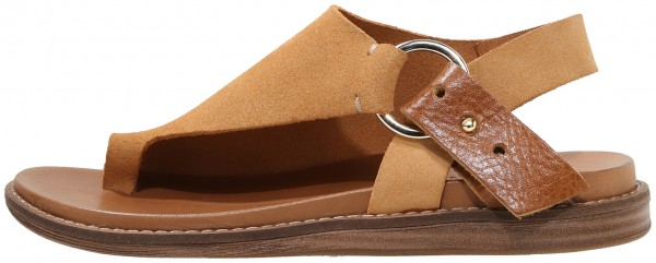 Inuovo Thong Leather Light Brown