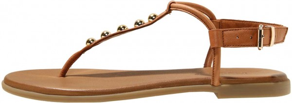 Inuovo Sandals Leather Gold Brown
