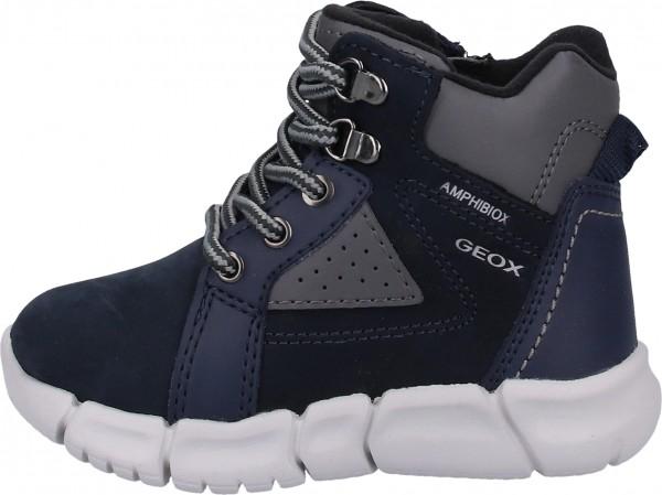 Geox Stiefel Leder/Textil Navy/Grau