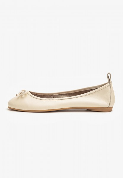Inuovo Ballerinas Leather Beige