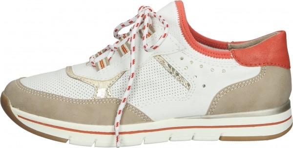 Relife Sneaker Lederimitat/Textil Beige/Weiß