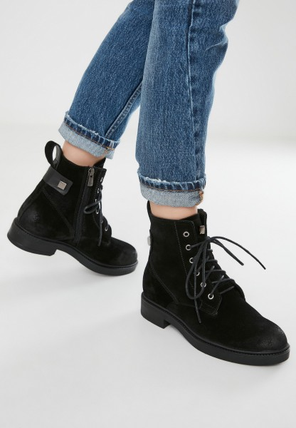 Inuovo Booties Leather Suede black2