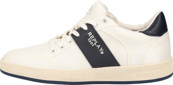 Replay Sneaker Textil Weiß/Blau