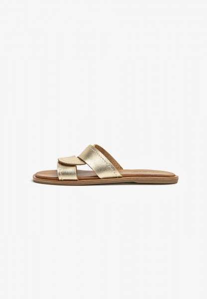 Inuovo Mules Leather Gold