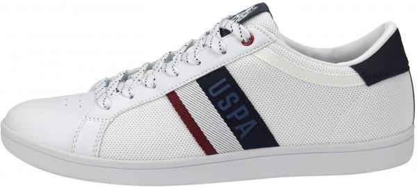 U.S. Polo Assn. Sneaker Leder/Mesh Weiß
