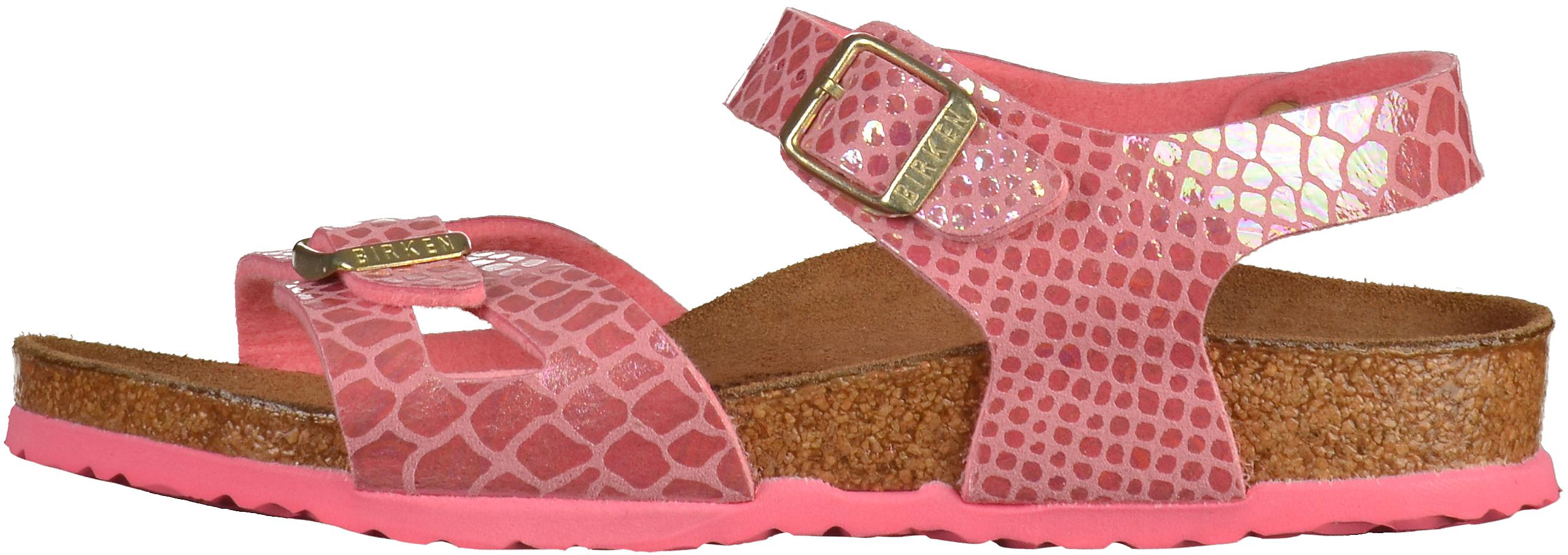 BIRKENSTOCK Rio Kids Sandals Birko-Flor Shiny Snake Pink  3b61f293f3d