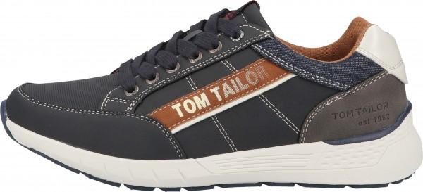 Tom Tailor Sneaker Lederimitat/Textil Navy