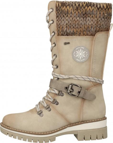 Relife Stiefel Lederimitat/Textil Creme Warmfutter