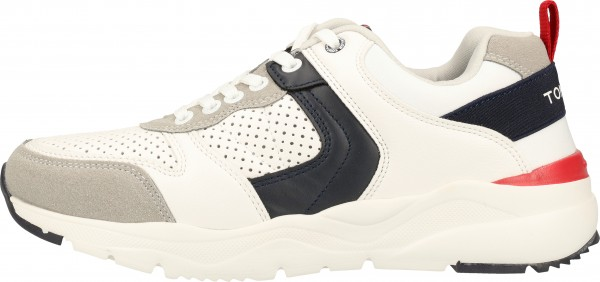 Tom Tailor Sneaker Lederimitat/Textil White