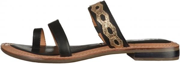 Marc Shoes Pantoletten Leder Schwarz