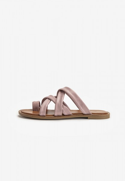 Inuovo Mules Leather Lilac