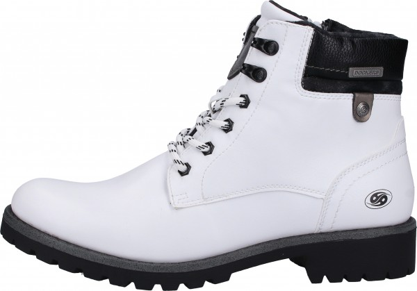 Dockers Stiefelette Lederimitat Weiß