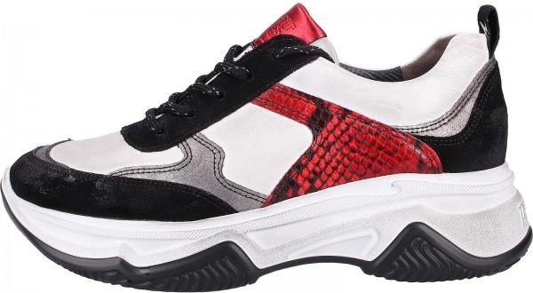Paul Green Sneaker Leder Schwarz/Rot