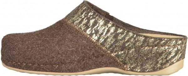 Rohde Pantoletten Textil Mocca
