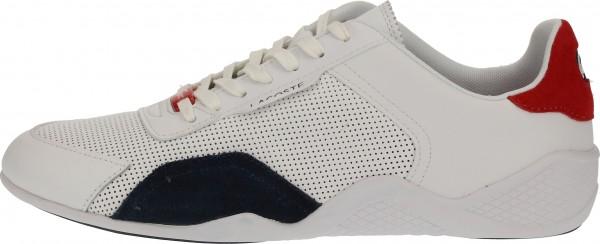 Lacoste Sneaker Leder/Synthetik Weiß/Navy
