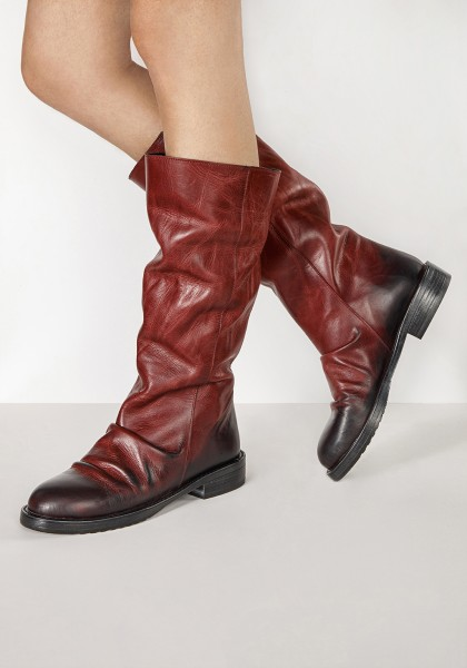 Inuovo Boots Leather Burgundy