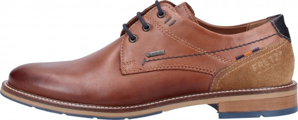 FRETZ men Lace Ups Leather Caramel