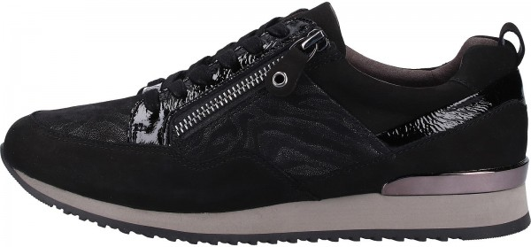 Caprice Sneaker Leder Schwarz/Weiß