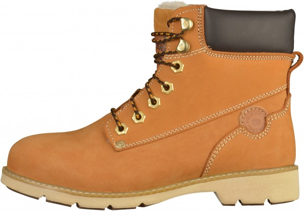 Dockers Stiefelette Leder Golden Tan Warmfutter