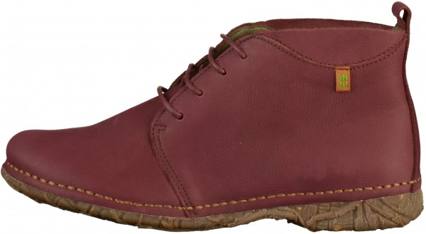 El Naturalista Booties Leather Red