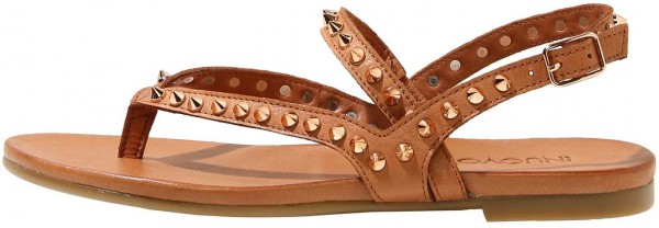 Inuovo Sandals Leather brown/gold