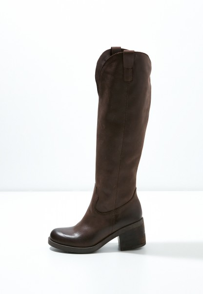 Inuovo Boots Leather fabric Dark brown