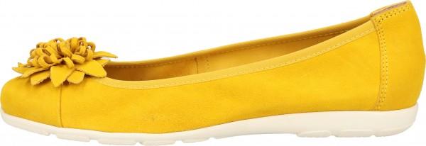 Caprice Ballerinas Leder Yellow
