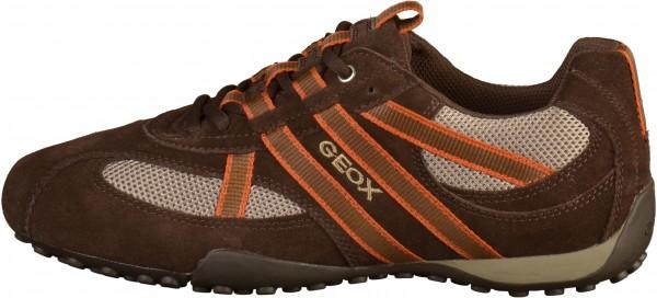 Geox Sneaker Veloursleder/Mesh Braun/Beige